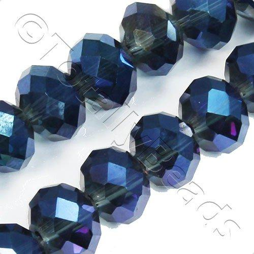 Crystal Rondelle 10x14mm - Midnight Blue