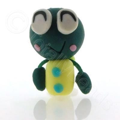 Fimo Doll Bead - Green Bug