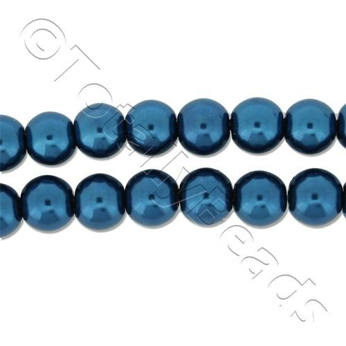 Glass Pearl Round Beads 6mm - Montana