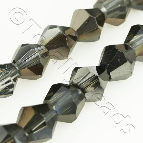 Crystal Bicone 6mm - Black Shadow