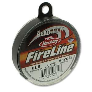 Fireline Thread 6lb 0.006in Crystal 50 Yards