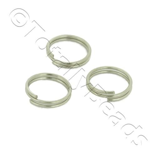 Split Rings 7mm - Rhodium Plated