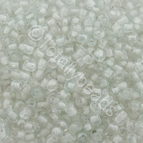 Seed Beads Colour Lined Luster  White - Size 8