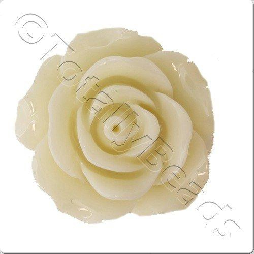 Acrylic Rose 25mm 2 Row - Vanilla