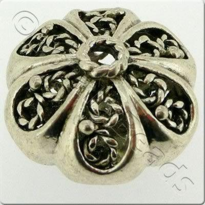 Tibetan Silver Bead - Hollow Pumpkin 22mm