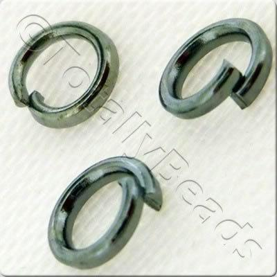 Jump Rings 4mm - Black Plated GRADE B