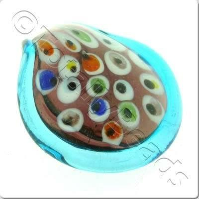 Lampwork Pendant - Drop 45mm - LPT43