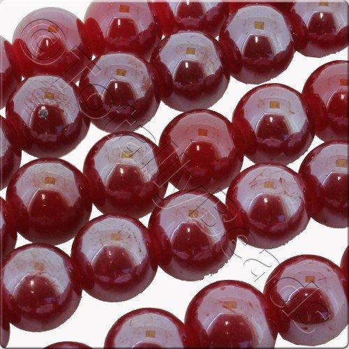 Luster Glass Bead 10mm Round - Red