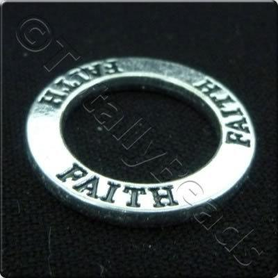 Tibetan Silver Message Ring - Faith