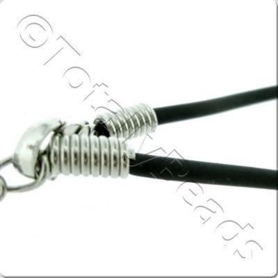 Black Necklace Cord - 2mm Rubber
