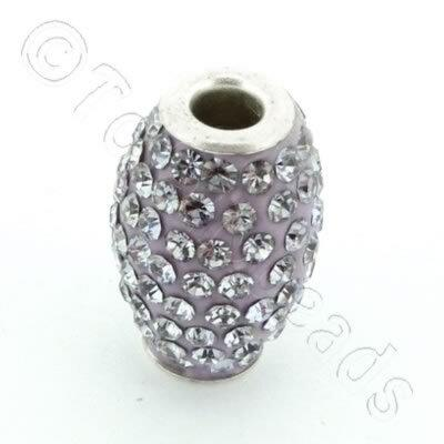 Shamballa Rice Bead - 20x14mm - Violet