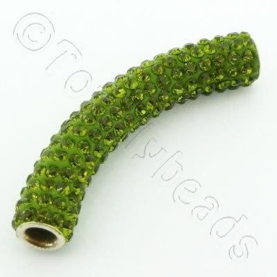 Shamballa Spacer Tube 40-50mm - Green