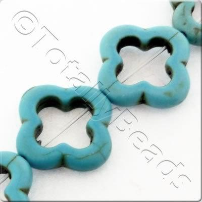 Synthetic Turquoise Clover 20mm - Turquoise