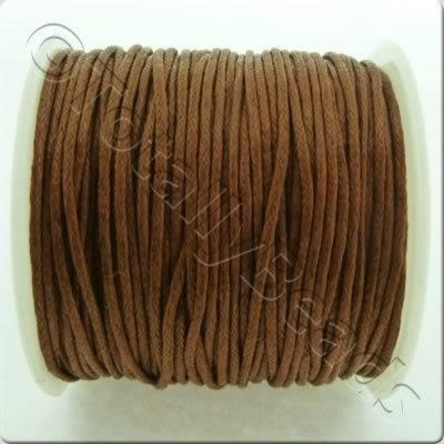 Wax Cotton Cord 1mm - Brown