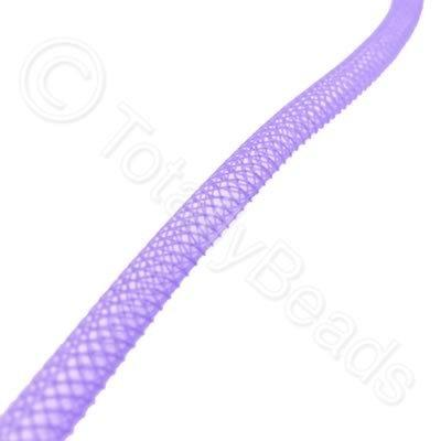 Nylon Mesh Tubing - 4mm Purple - 4m pack