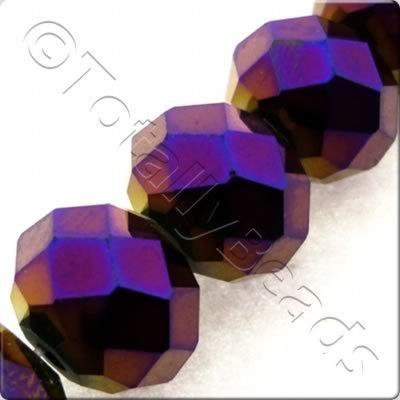 Crystal Rondelle 10x14mm - Purple Iris