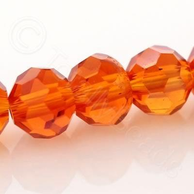 Crystal Round 4mm - Orange AB