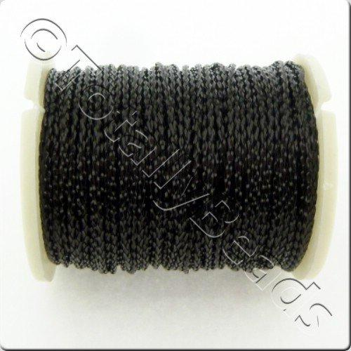 Metallic Thread Black - 0.7mm - 10m Spool