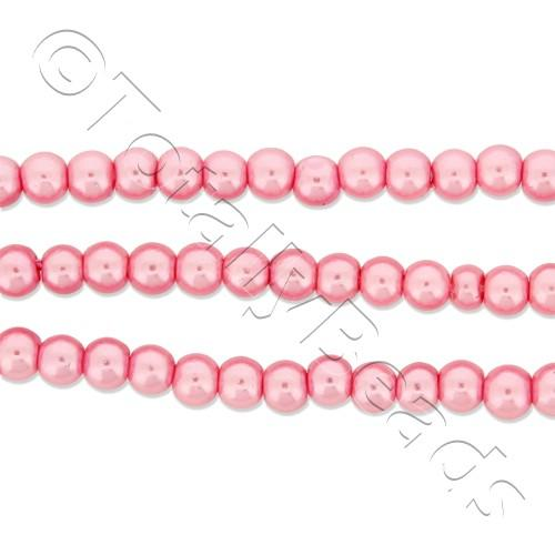 Glass Pearl Round Beads 3mm - Baby Pink
