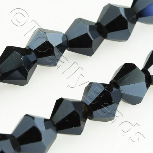 Crystal Bicone 6mm - Hematite