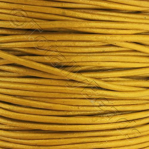 Leather Cord 1.5mm - Yellow 1m length