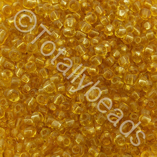 Seed Beads Transparent  Gold - Size 11