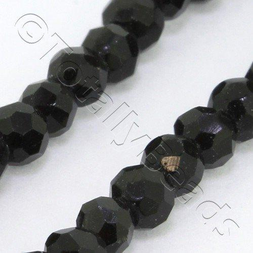Crystal Round 3mm - Jet Black