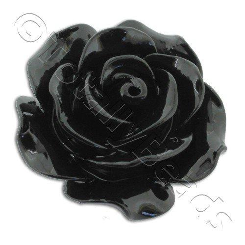 Acrylic Rose 25mm 1 Row - Black