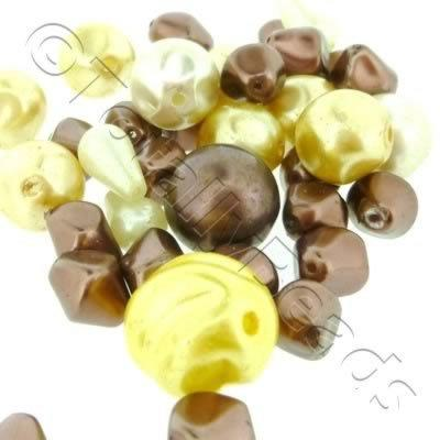 Bead Mix - Glass Pearl Shapes