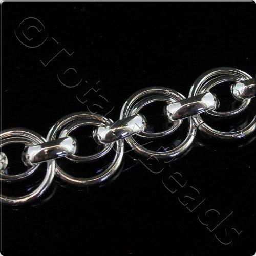 Solid Link Oval Chain 7.5x5.5mm 10mm Ring 20cm