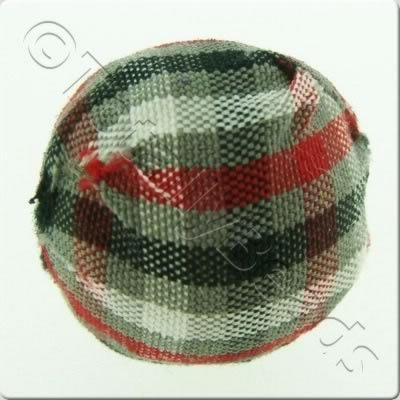 Chequered Cloth Bead 20mm - C5