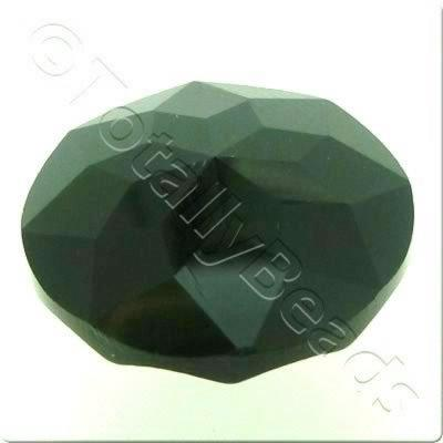 Crystal Button 20mm - Black