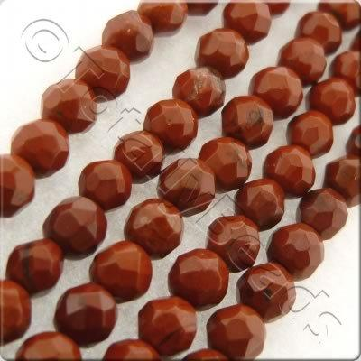Red Jasper 3mm Facet Round