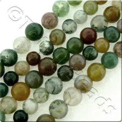 Indian Agate Round Beads - 4mm