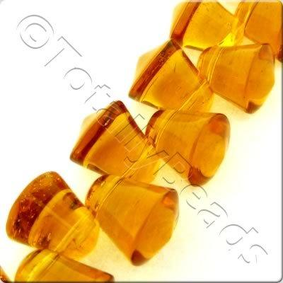 Glass Bell - 10x9mm - Topaz - 37pcs