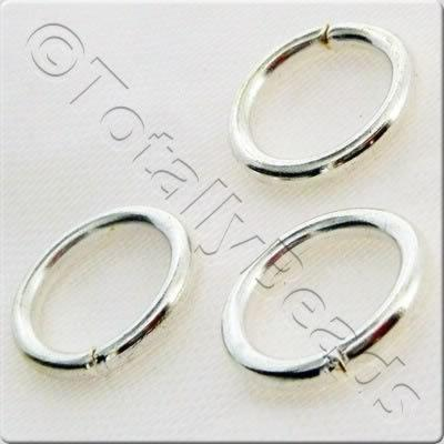 Jump Rings 14x2mm - Silver Plated