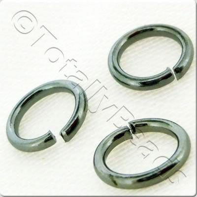 Jump Rings 8x1.2mm - Black Plated