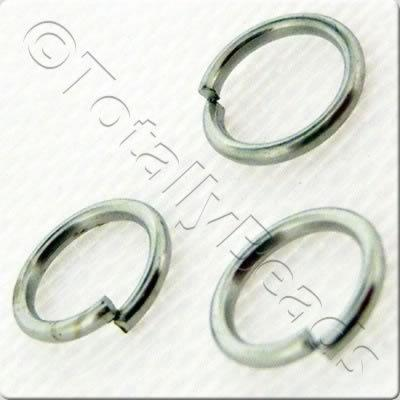 Jump Rings 5mm - Rhodium Plated