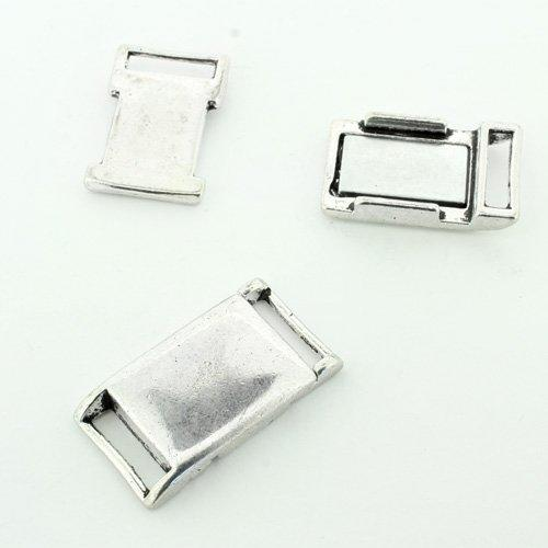 Magnetic Clasp Buckle - Antique Silver 25mm 1pcs