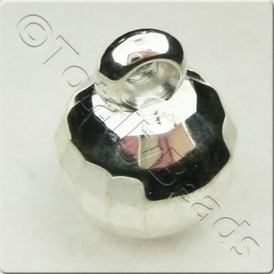 Acrylic Silver Bead - 10mm Facet Hanging Bead