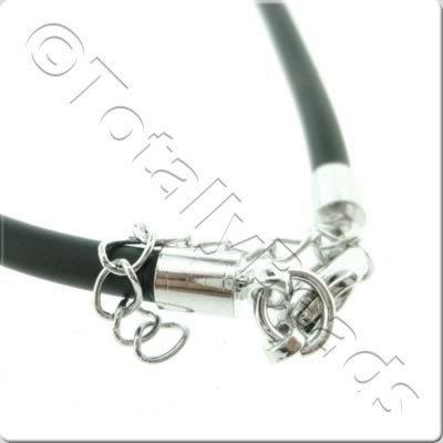 Black Necklace Cord - 3mm Rubber