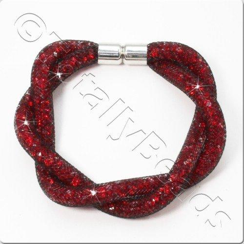 Sparkle Mesh Bracelet Kit - Red