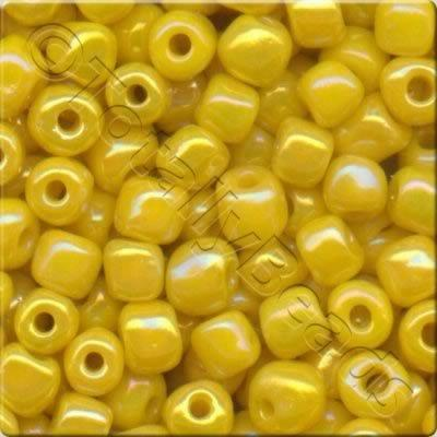 Seed Beads Opaque Rainbow  Yellow - Size 6