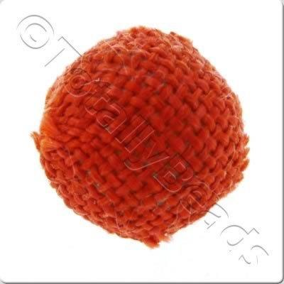 Weaved Hatch Bead - Red