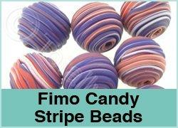 Fimo Candy Stripe Beads