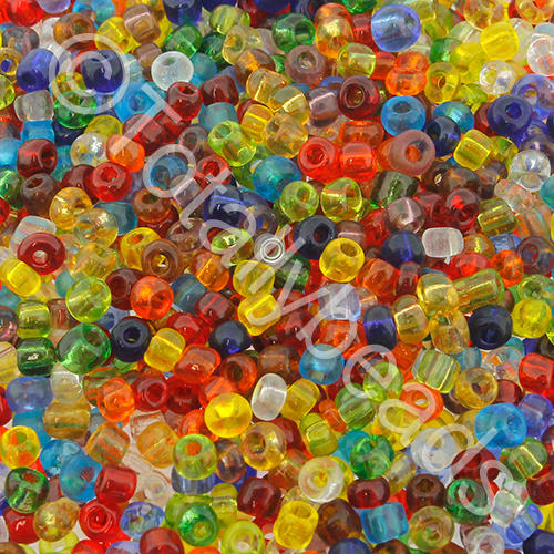 Seed Beads Transparent  Mixed - Size 8