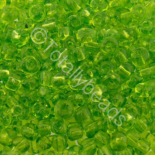Seed Beads Transparent  Light Green - Size 6