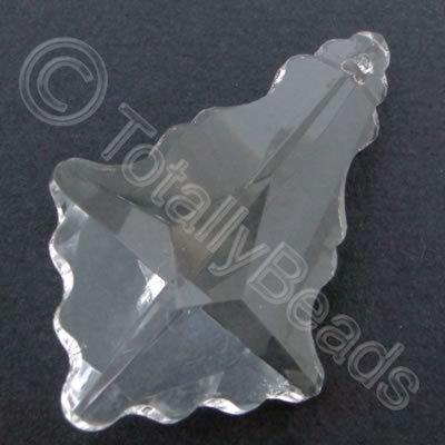 Glass Pendant Arrow Clear - 50mm