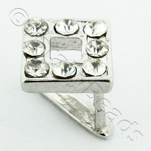Silver Bail Square - 8mm
