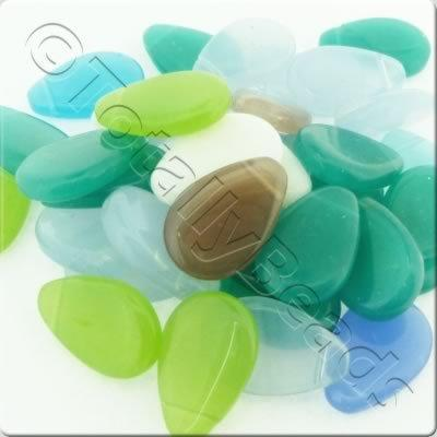 Bead Mix - 18x12mm Drop Mix - 50g